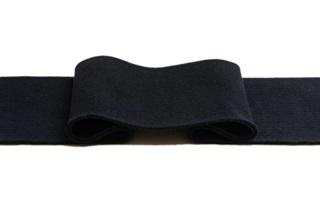 Afbeelding van Zwarte boord 1x1 (met elastan)