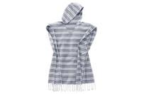 Blue striped poncho