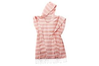 Afbeelding van Blush Pink gestreepte poncho
