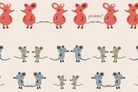 Twin mouse poplin