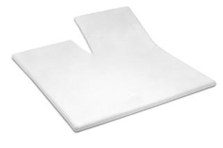 Afbeelding van White split topper hoeslaken satijn