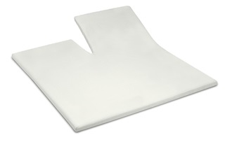 Picture of Ivory split topper fitted sheet sateen
