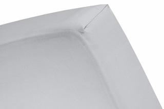 Afbeelding van Light Grey hoeslaken satijn
