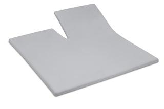 Afbeelding van Light Grey split topper hoeslaken satijn