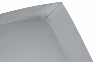 Picture of Grey fitted sheet sateen