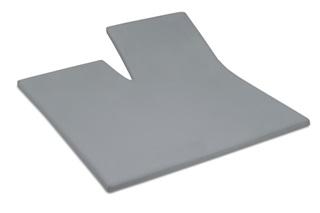 Afbeelding van Grey split topper hoeslaken satijn