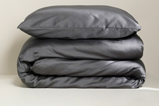 Picture of Anthracite duvet cover sateen