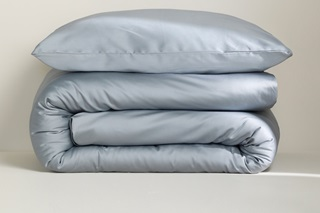 Picture of Grey duvet cover sateen