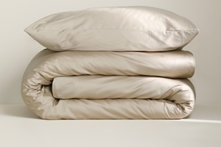 Picture of Taupe duvet cover sateen