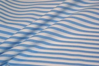Afbeelding van Marina Blue Stripe poplin