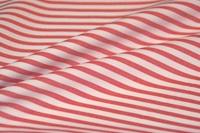 Bittersweet Red Stripe poplin