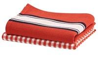 Delhi Red Clay tea towel set