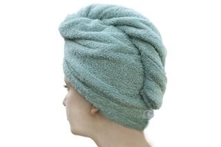 Afbeelding van Haarhanddoek Mineral Green