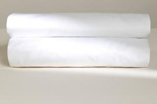 Afbeelding van White laken satijn
