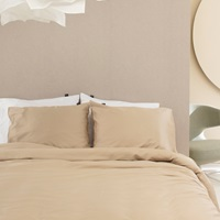 Taupe duvet cover sateen-2