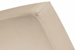 Afbeelding van Taupe topper hoeslaken (dun matras) satijn