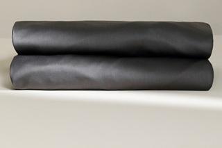 Afbeelding van Antraciet laken satijn