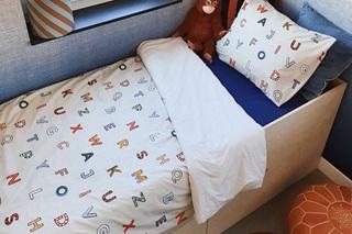 Afbeelding van Alpha-bed kinder dekbedovertrek percal