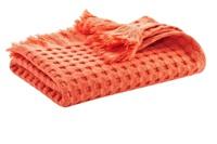 Terracotta waffle bath textiles