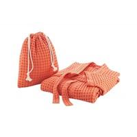 Terracotta waffle bathrobe-2