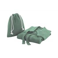 Myrtle Green waffle bathrobe-2