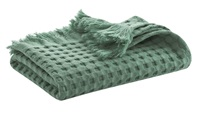 Myrtle Green waffle bath textiles