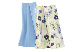 Afbeelding van Wildflowers Blue theedoekenset