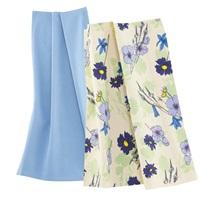 Wildflowers Blue tea towel set-2