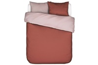 Two in one Rust duvet cover percale