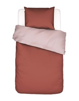 Two in one Rust duvet cover percale-2