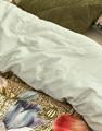 Nadia Sage Green dekbedovertrek satijn
