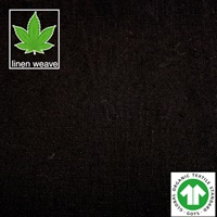 Zwart hennep linnen-2