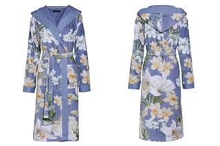 Afbeelding van Perri Rosalee Blue velours badjas