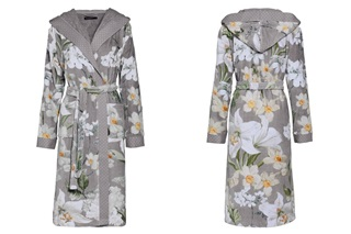 Afbeelding van Perri Rosalee Grey velours badjas
