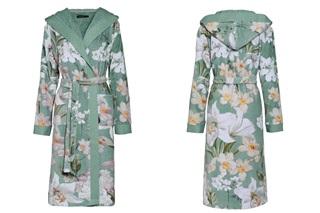Afbeelding van Perri Rosalee Green velours badjas
