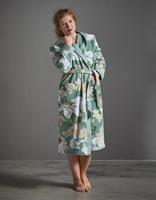 Perri Rosalee Green velours badjas-2