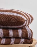 Structure Knit Toffee Brown plaid-2