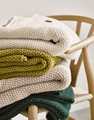 Nordic Knit Oatmeal plaid